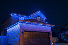 Two-story-blue-lights